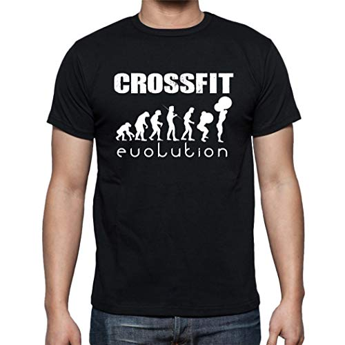 The Fan Tee Camiseta de Hombre Crossfit Deporte Gimnasio Gym Pesas 016 L