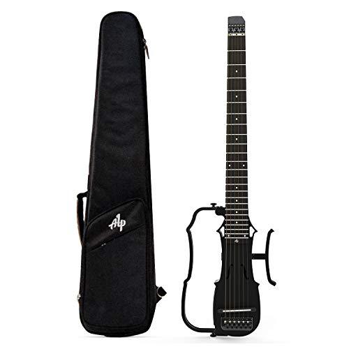 Asmuse Guitarra Acústica de Viaje Plegable con Auriculares AMP Sintonizador AUX IN Incorporado, Guitarra Portátil de Escala Completa ALP DRA-300, Ultra-ligero (Con Salida de Auriculares de 3,5 mm)