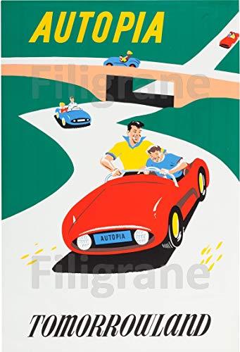PostersAndCo TM Autopia Tomorrowland Ruub-Poster/Kunstdruck 50 x 70 cm * (auf Papier 60 x 80 cm) d1 Poster Vintage/Retro