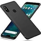 Peakally Xiaomi Mi A2 Lite Case, Black TPU Cover Phone Case