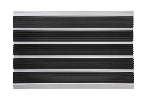 PANA® aluminium deurmat, voetmat, afmetingen: ca. 39 x 60 cm, vuilvangmat, voetenveger