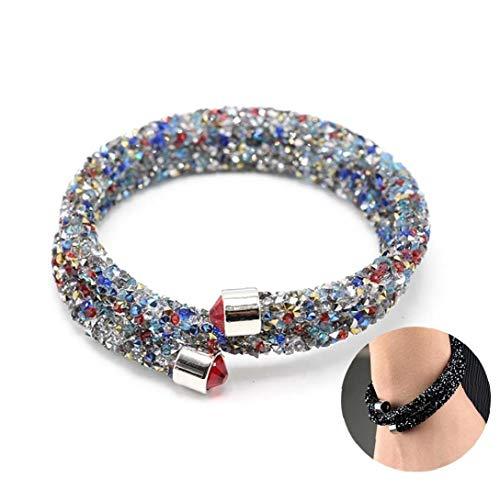 jieerrui Cristal Bracelet Bijoux Double Bracelet Multicolore Pour Les Filles De Femmes