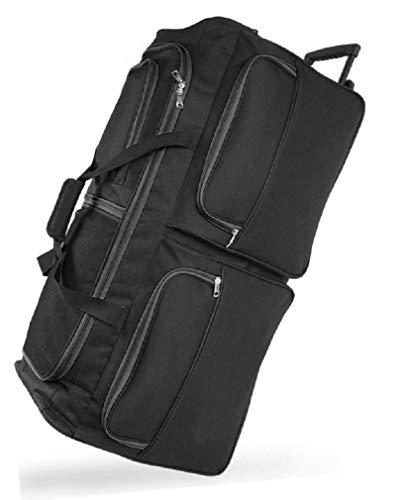 DK Luggage Travel Bag Wheeled Holdall Extra Large 34' Suitcase 3 Wheels Black