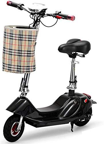 LAZNG Adulto Scooter eléctrico portátil Plegable Bicicleta eléctrica señoras de los Hombres,...