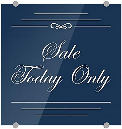 Sale Today Only Classic Navy Premium Acrylic Sign CGSignLab 16x16