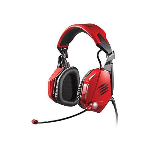 Mad Catz F.R.E.Q. 5 - Auriculares Gaming con micrófono (3.5 mm, USB, Alámbrico), Rojo