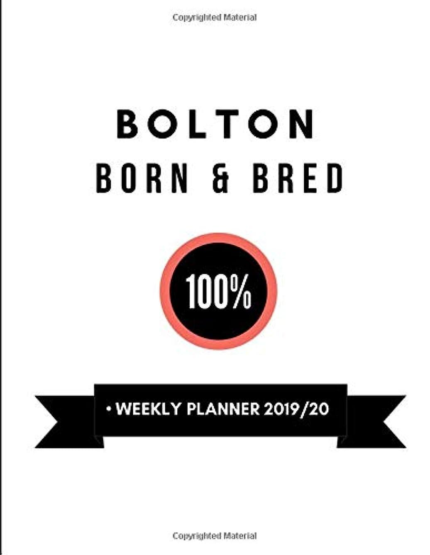 主に規定枕Bolton Born & Bred 100%  Weekly Planner 2019/20