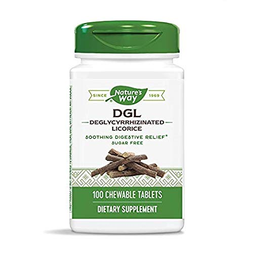 Nature's Way DGL 100 Chewable Tablets (2 Pack, No Fructose)