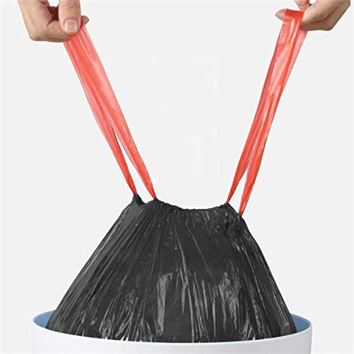 Drawstring Bin Liner Plastic Bag. Strong Trash Bags (100 Gauge / 25 Micron)...
