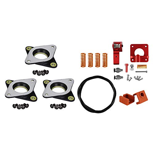 Semoic 1 Set Motor Steel and Rubber Vibration Dampers with M3 Screw & 1 Set 3D Printer Accessories Creality Extruder Kit