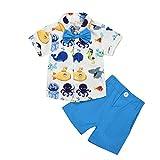 Sunnymi - Conjunto de camiseta para niños de 1 a 5 años azul claro Talla:4-5 años