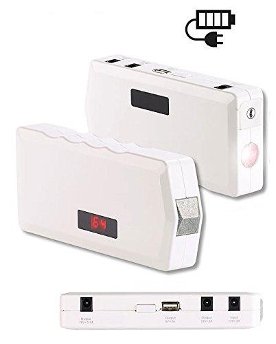 reVolt Kfz Starter: Notebook-Powerbank m. Kfz-Starthilfe, Notfall-Hammer, 10.000 mAh/400 A (Powerbank Laptop)