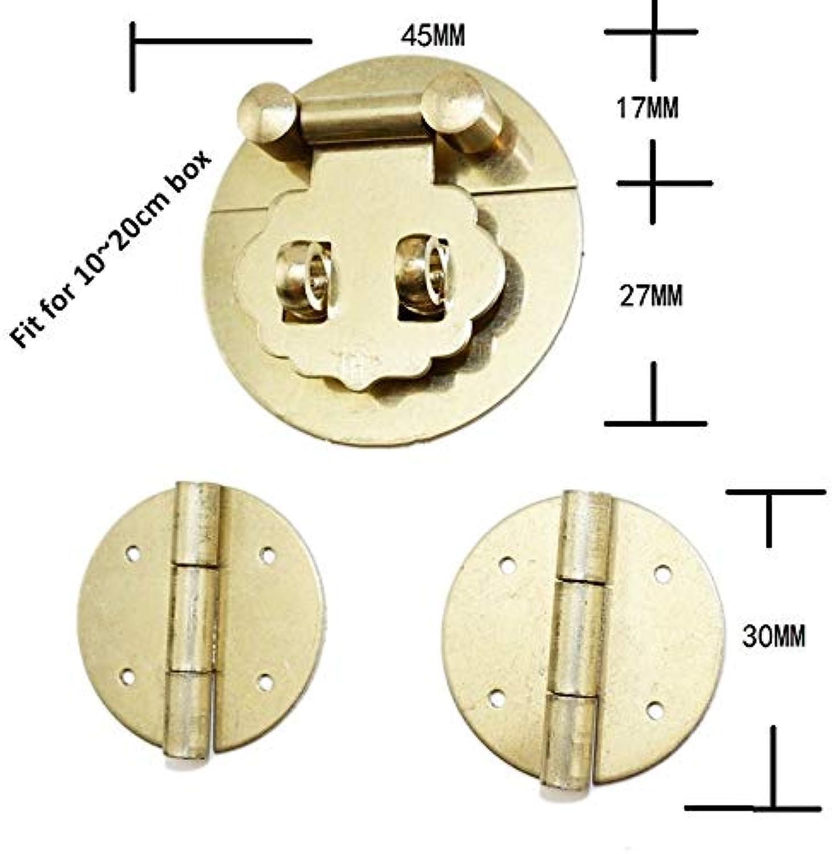 Vintage Brass Lock Set Wooden Box,European Mini Wooden Box(1020cm) Vase Buckle Hasp Latch Lock+Hinges,1Set