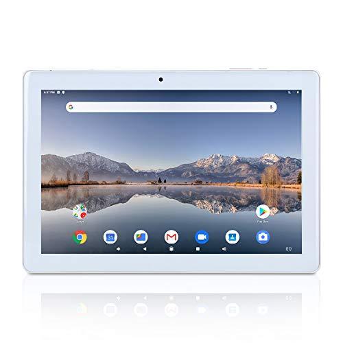 10.1 Zoll Tablet Android 9.0 Pie Google GMS Zertifizierter Quad Core 2 GB RAM 32 GB ROM IPS Bildschirm YELLYOUTH 10 Tablets mit GPS Bluetooth WiFi und Dual Kamera - Silber