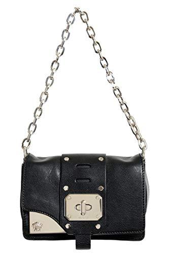 Versace 100% Leather Black Women's Crossbody Shoulder Bag
