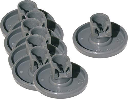 Korbrollen 5028696400 Korbrolle Korbrollenset (Lieferumfang 8 Stück) für den unteren Geschirrkorb für AEG Favorit Electrolux ESF Juno Küppersbusch IG Zanker und Zanussi