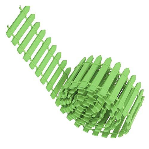 Calayu DIY houten omheining, mini houten barrière Craft rolhek miniatuur tuindecoratie Micro Plant Pot Decoratie voor vetplanten 100 * 5 cm 100*5cm lichtgroen