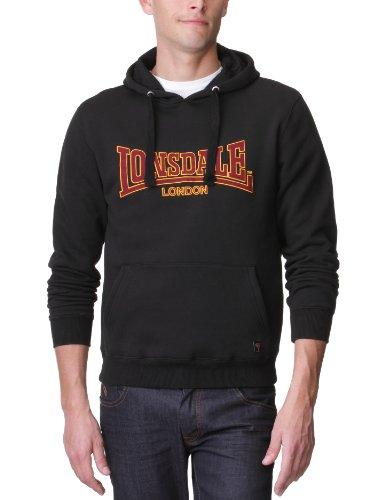 Lonsdale Herren Sweatshirt Sweatshirt Slim Fit Hooded Classic schwarz (schwarz) Medium