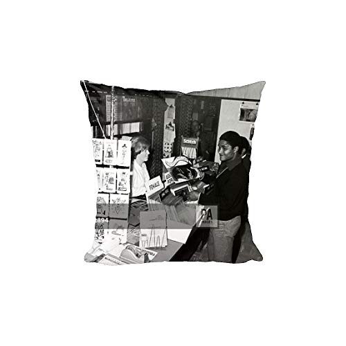 Media Storehouse 12x12 Cushion of Soccer - European Cup - Final - Manchester United v Benfica - Build Up (14002488)
