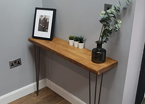 Rustic Console Table   25cm Deep Handcrafted Home Side Table   Industrial...