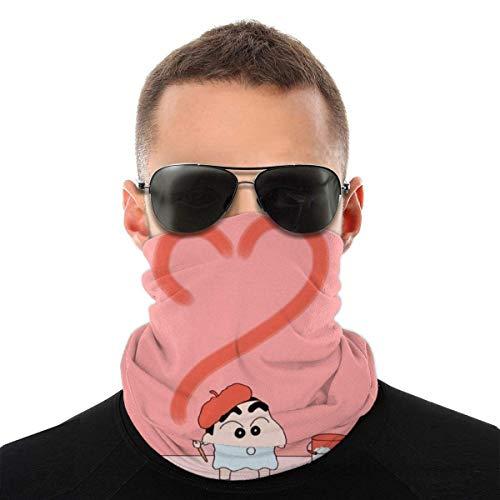 MJKII Crayon Shin-Chan variedad turbante cara cuello calentador bufanda pasamontañas Unisex suave a prueba de viento novedad diadema para deportes senderismo
