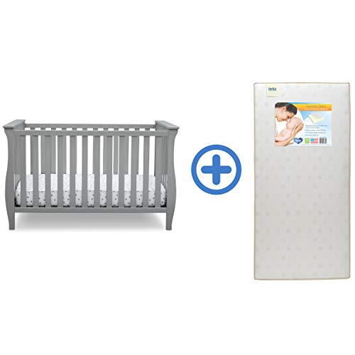 Find Bargain Delta Children Lancaster 3-in-1 Convertible Baby Crib & Twinkle Stars Waterproof Fiber ...