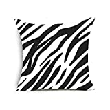 Funda de cojín para sofá cuadrado de fundas de piel animal cebra del leopardo cojín sofá cama cubiertas 45x45 cm #9