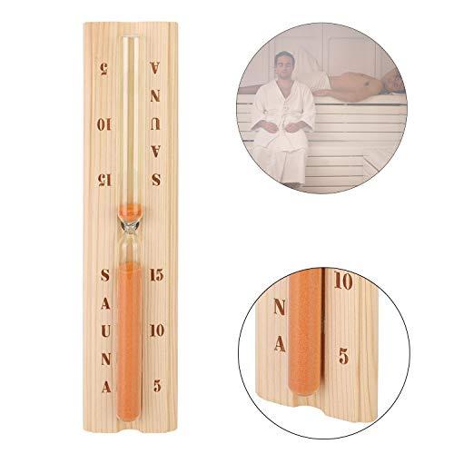 Eliga Sanduhr für Sauna Standard mit rotem Sand Laufzeit 15 Minuten