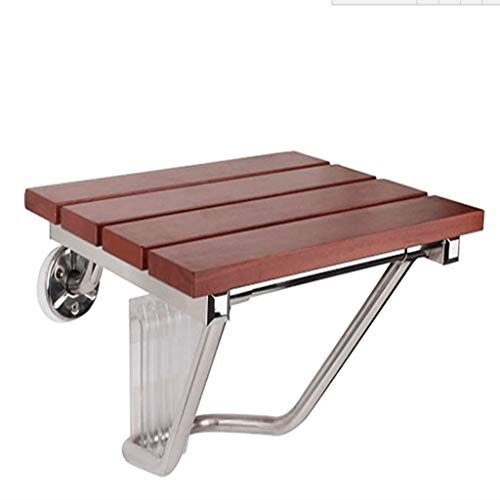 Amazing Deal BLRYP Shower Chair Folding Wall Mount Shower Bath Seat Shower Bench,Solid Wood Bath Cha...