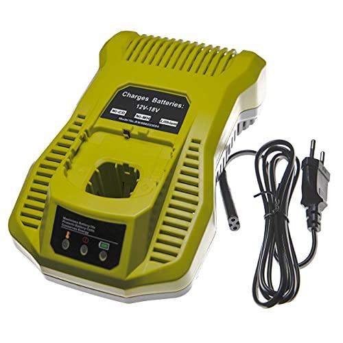 vhbw Cargador rápido compatible con Ryobi P236, P240, P2400, P241, P246, P250, P2500, P2600, P2603, P271 herramientas, baterías de Ni-Cd, NiMH, Li-Ion