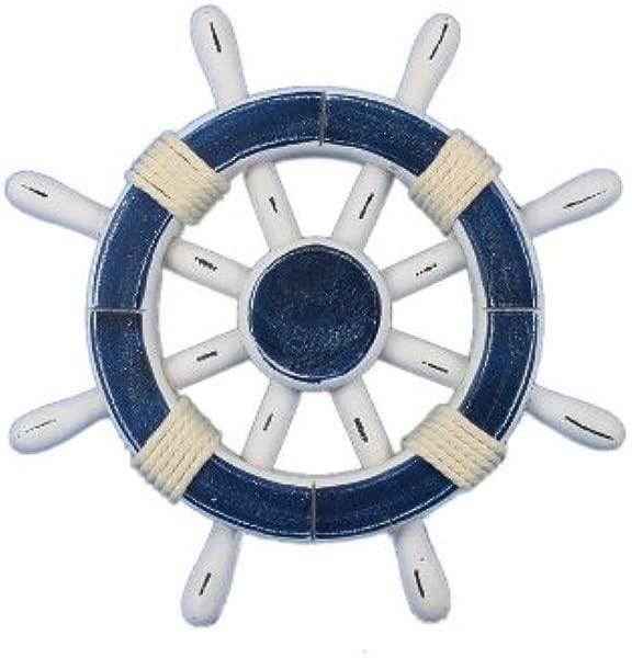 汉普顿航海乡村深蓝色和白色车轮 12