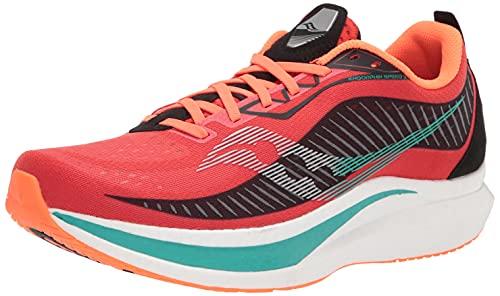 Saucony Men's Endorphin Speed 2 Running Shoe, Scarlet/Black, 9.5