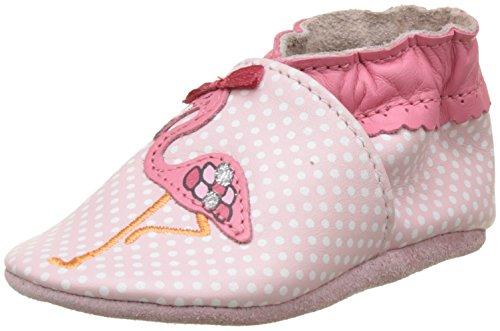 Robeez Unisex Baby Flamingo Krabbelschuhe, Pink (Rose), 21/22 EU