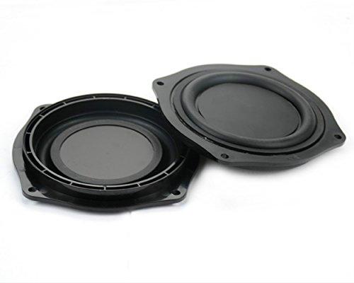 AIYIMA 2pcs 4 Inch DIY Bass Speaker Loudspeaker Vibrating Membrane Passive Bass Woofer Diaphragm Plate,Speaker Passive Radiator Replacement Kit
