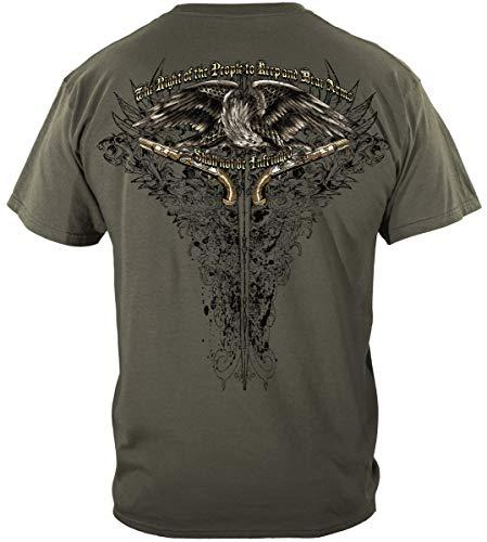 2nd Amendment Second Amendment Decal | 2nd Amendment Eagle Tattoo Shirt ADD198-RN2256XL