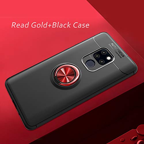 360/° Adjustable Ring Stand,Frosting Thin Soft Protective and Finger Ring Holder Kickstand Fit Magnetic Car Mount-Black+Red Newseego Compatible with Huawei P20 Lite Case,Huawei Nova 3E Case