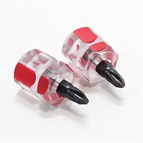 Herramienta de reparación del destornillador del destornillador de acero de la aleación antideslizante portátil del destornillador para las piezas de la máquina de coser ( Color : Phillips 2pcs )