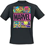 Funko Marvel - Black Light - Panels Hombre Camiseta Negro M, 100% algodón, Regular