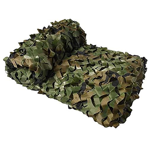 EElabper Camuflaje sombreado Red de Seguridad la formación de bosques antiaérea Cubierta de Camuflaje 200cmx300cm Neto