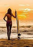 PICSonPAPER Hochwertiges Poster Surfgirl im