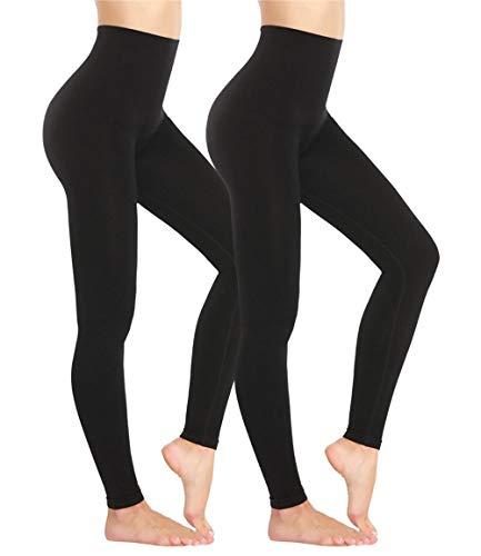 Las Mujeres Que Adelgaza Legging de Cintura Alta Trainer Modelación Faja elástica Delgada Apretada Pierna de Control de la Panza Bragas Pantalones Negro LCZCZL (Color : Sexy Black 2, Size : XXXL)