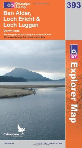 OS Explorer map 393 : Ben Alder, Loch Ericht & Loch Laggan
