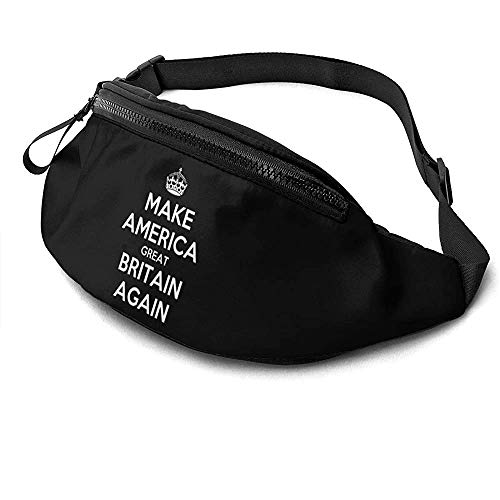 NA Make America Great Britain Again Runner's Fanny Bag Waist Pack Adjustable Straps Pocket with Headphone Jack for Unisex