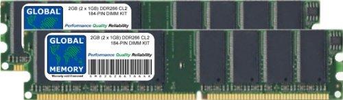 GLOBAL MEMORY 2 GB (2 x 1 GB) DDR266 MHz PC2100 184...