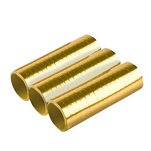 Amscan 9904638 - Luftschlangen Gold Brush, 3 Rollen mit jeweils 18 Röhrchen, Papier, Dekoration, Mottoparty, Karneval