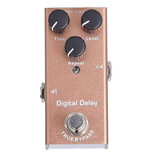 Mini Pedal de efectos de retardo de guitarra Procesador de sonido de retardo digital único con True Bypass