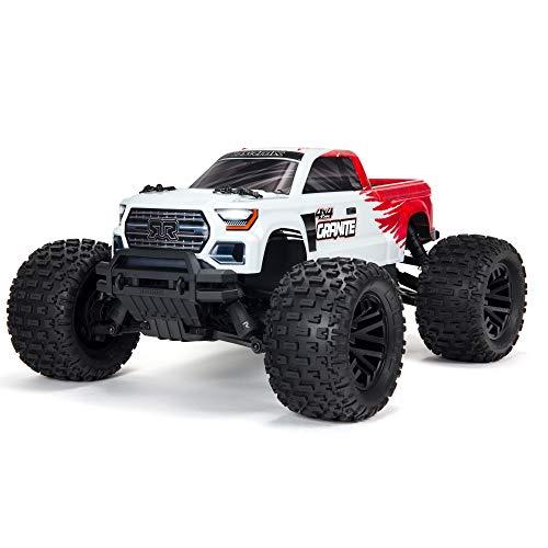 ARRMA 1/10 Granite 4X4 V3 MEGA 550 Brushed Monster Truck RTR, Red, ARA4202V3T2