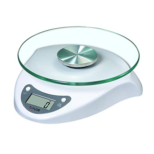 Taylor Precision Products Digital Kitchen Scale, 6.6 Pound Capacity, white