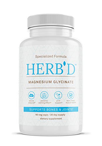 Magnesium GLYCINATE Chelated High Absorption Magnesium Vegan Magnesium Supplement Magnesium Glycinate Pure Encapsulations Best Magnesium for Leg Cramps Pure Calcium Magnesium Citrate 60 Capsules