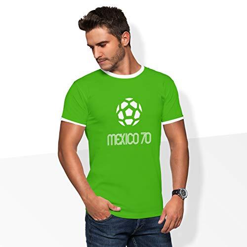 World of Football Ringer T-Shirt Mexico 1970 Green - XXL